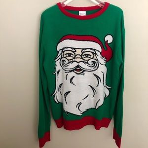 Ugly Christmas Sweater SANTA CLAUS FACE Sweater